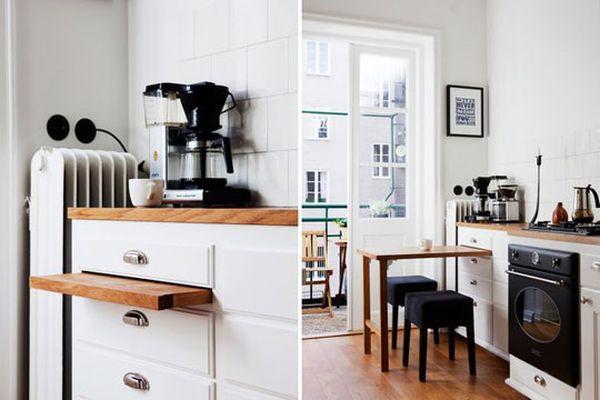 Bàn kéo – giải pháp tuyệt vời cho nhà bếp nhỏ 3