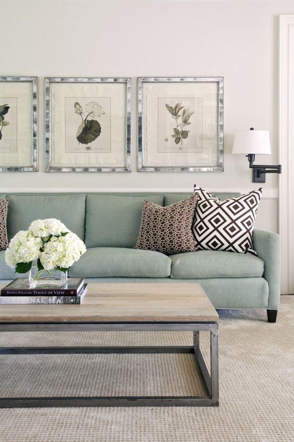 Những biến hóa nội thất phong cách với sofa màu ngọc lam 2