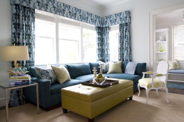 Những biến hóa nội thất phong cách với sofa màu ngọc lam 3