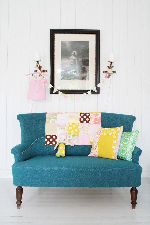 Những biến hóa nội thất phong cách với sofa màu ngọc lam 5