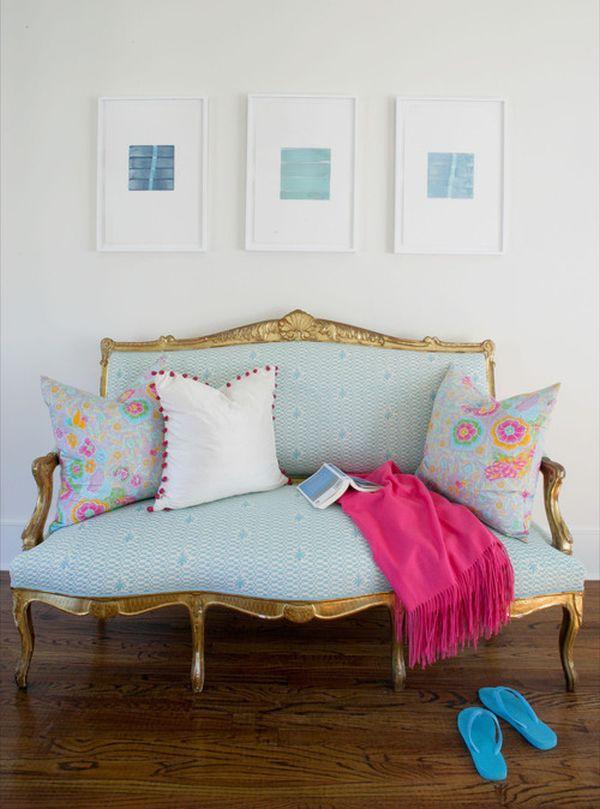 Những biến hóa nội thất phong cách với sofa màu ngọc lam 6