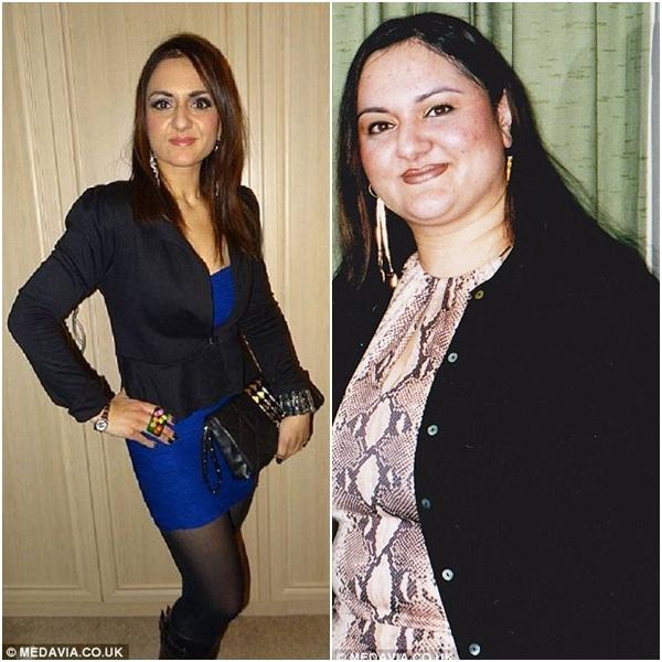 Giảm hơn 44 kg, bà béo thành
