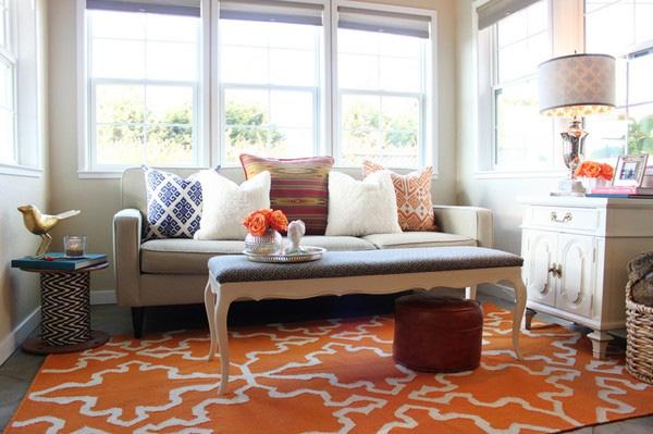 Làm ấm không gian với thảm trải sàn 7