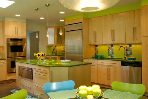 Décor nhà khéo léo với màu xanh lá 4