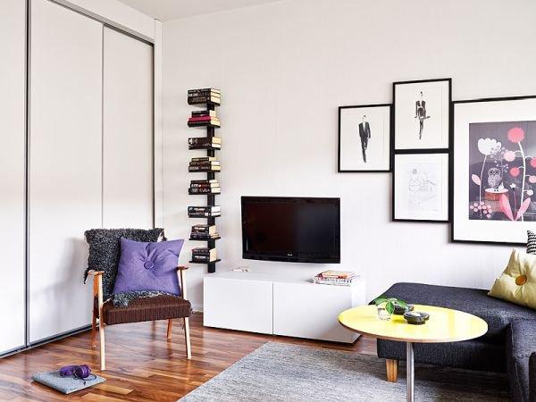 Cách bố trí nội thất cho căn hộ 25 mét vuông gọn gàng, xinh xắn 2