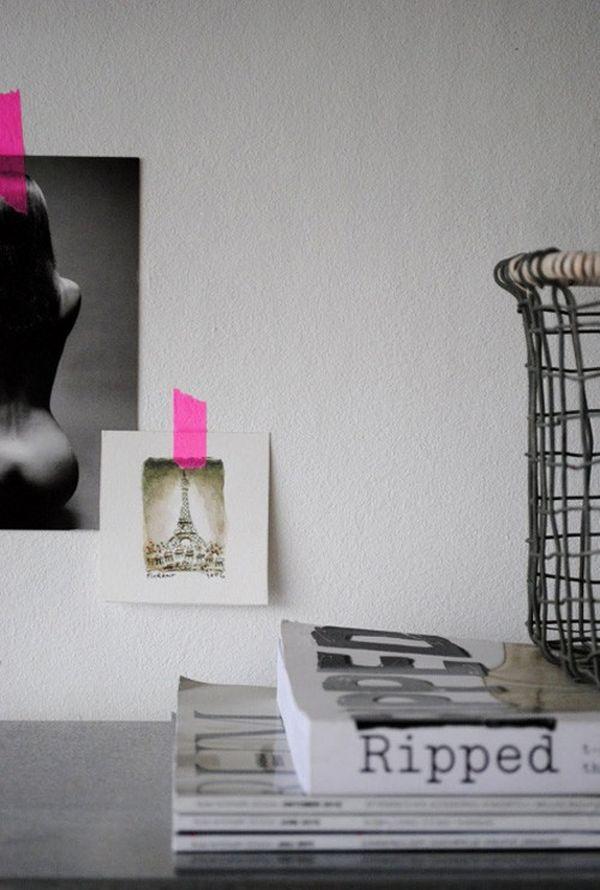 Làm mới không gian và đồ nội thất bằng băng dính Washi 8