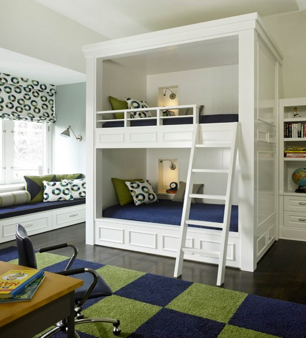 Phòng ngủ của bé siêu xinh với thiết kế giường tầng 7
