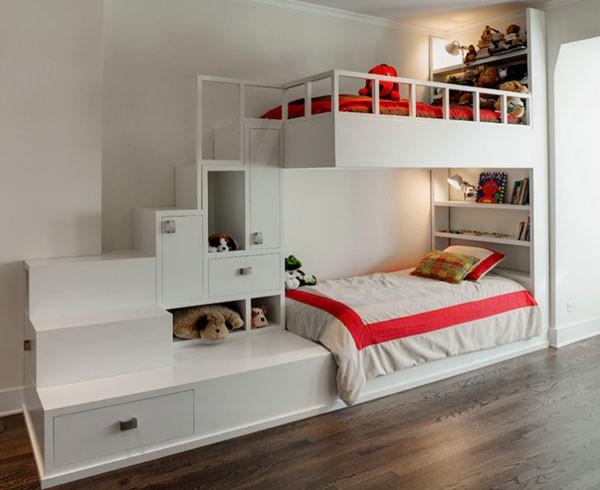 Phòng ngủ của bé siêu xinh với thiết kế giường tầng 3