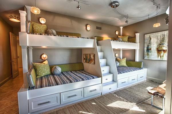 Phòng ngủ của bé siêu xinh với thiết kế giường tầng 4