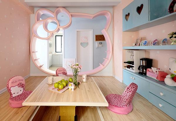 Không gian sống ngọt ngào hơn nhờ... chú mèo Hello Kitty 6
