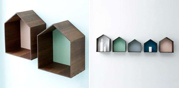 Không gian sống ấn tượng với đồ trang trí gỗ hình khối 3