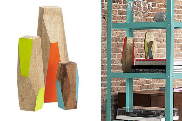Không gian sống ấn tượng với đồ trang trí gỗ hình khối 6