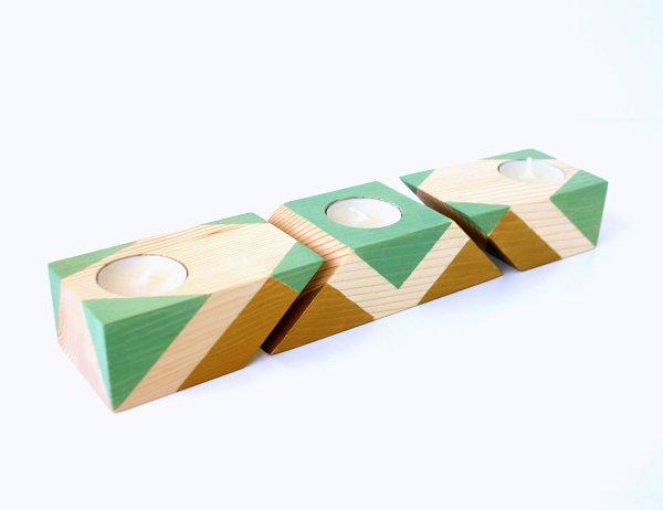 Không gian sống ấn tượng với đồ trang trí gỗ hình khối 7