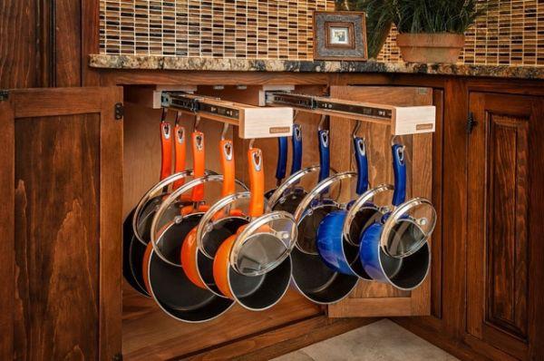 Phòng bếp gọn gàng nhờ mẹo lưu trữ, sắp xếp sáng tạo 9