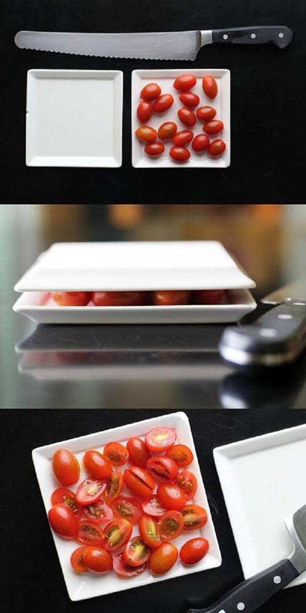 cắt cà chua