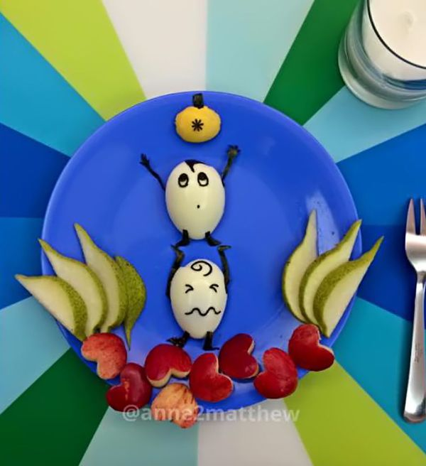 Trang trí món ăn từ trứng