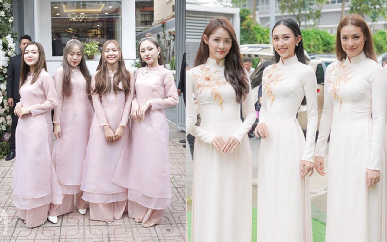 Dàn phù dâu mặc áo dài đẹp nhất đám cưới sao Việt, cô dâu tương lai nên tham khảo để có những bức hình đẹp mê li