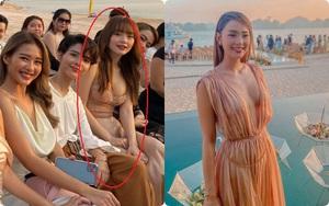 """2 lần Minh Hằng diện váy phô diễn vòng 1 dự đám cưới: Bộ tại lễ cưới Đông Nhi nhìn nền nã hóa ra cũng có khoảnh khắc """"hú hồn"""""""