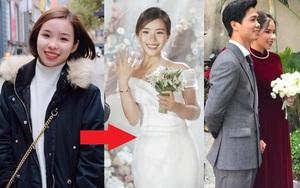 Cứ nói mãi về váy cưới của Viên Minh mà không biết loạt kiểu tóc giúp cô che nhược điểm, chạm đỉnh cao nhan sắc thì thật phí!