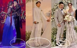 """Chú rể bây giờ cũng cần giày độn đế để """"hack chiều cao"""", nâng tầm phong độ khi sóng đôi cùng cô dâu trong ngày cưới"""