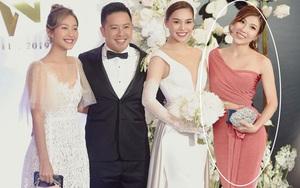 Giữa cả dàn khách mời diện đồ đúng chuẩn dress code tại lễ cưới Giang Hồng Ngọc, một mình Trang Pháp diện đồ lệch tông