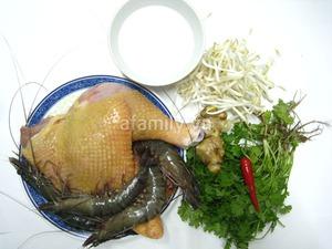 Bún tôm gà nấu chua cho bữa sáng ngon miệng 2