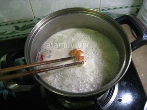 Bún tôm gà nấu chua cho bữa sáng ngon miệng 7