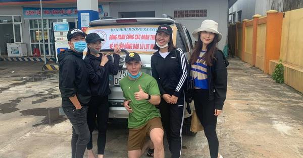 Vợ chồng Trường Giang, Lê Dương Bảo Lâm có mặt ở miền Trung để cứu trợ bà con