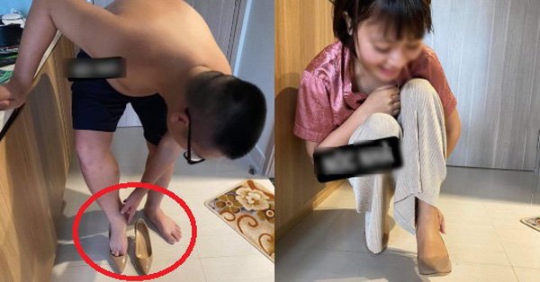 Háo hức được vợ tặng giày thiết kế mới nhất 2020 nhân dịp tăng lương, chồng