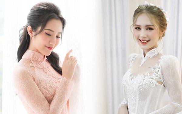 Primmy Trương - Xoài Non cùng diện áo dài ren cho ngày ăn hỏi nhưng lại so kè cực