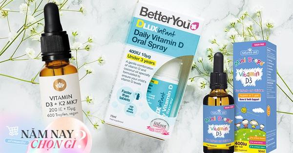 6 loại vitamin D cho trẻ 2020: Loại các mẹ