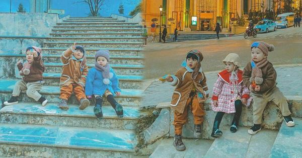 Bộ ảnh 3 em bé rủ nhau check-in Sa Pa khiến dân mạng mê mẩn: