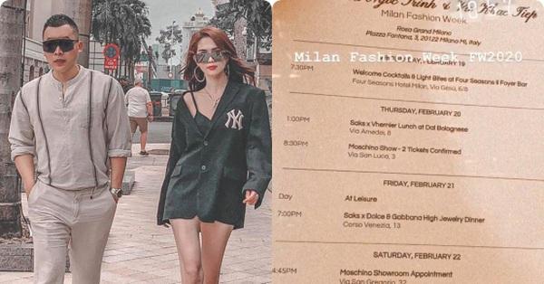 Vũ Khắc Tiệp bất ngờ xuất hiện tại Milan, nhử fan với tấm thiệp mời từ loạt show danh tiếng nhưng lạ là Ngọc Trinh vẫn chưa thấy