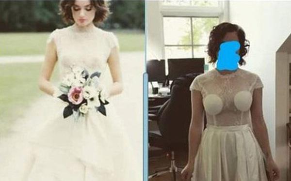 Dở khóc dở cười vì mua hàng online: Cô dâu tự tin đặt mua váy cưới trên mạng để rồi khóc thét khi nhận được hàng