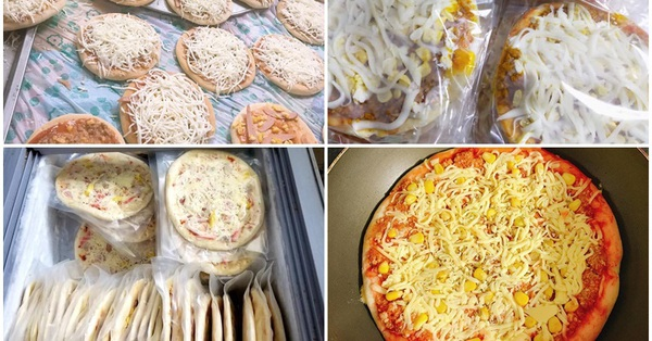 Pizza cấp đông tràn ngập chợ mạng, giá chỉ 160 ngàn đồng/10 chiếc, chủ bán mỗi ngày vài trăm chiếc