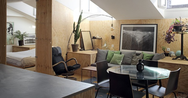 Căn hộ nhỏ làm từ gỗ cực xinh, biến nhà ở thành không gian trang trí trong từng góc nhỏ