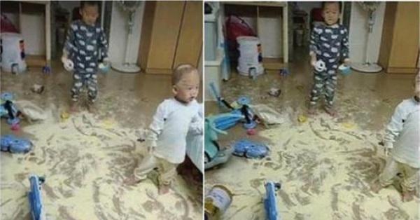 Dặn chồng ở nhà pha sữa cho con, sau 2 tiếng trở về vợ suýt ngất khi nhìn bãi chiến trường trước mắt
