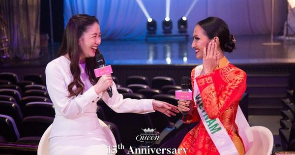 Được khen vì sử dụng tiếng Anh để trả lời phỏng vấn nhưng Hoài Sa lại bị nhắc nhở điều này khi tham dự Miss International Queen 2020