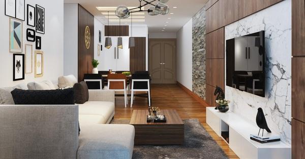Tư vấn thiết kế nội thất căn hộ chung cư có diện tích 83m² theo phong cách hiện đại, tối giản với chi phí 74 triệu