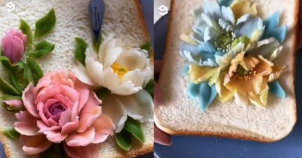 Không thể tin được món bánh sandwich quen thuộc lại có thể đẹp đến thế chỉ với mẹo từ chiếc dao nhỏ xíu!