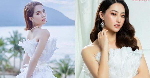 Cùng 1 bộ váy: Ngọc Trinh kém đẹp so với Lương Thùy Linh vì vóc dáng gầy gò quá đà, trơ xương thiếu sức sống