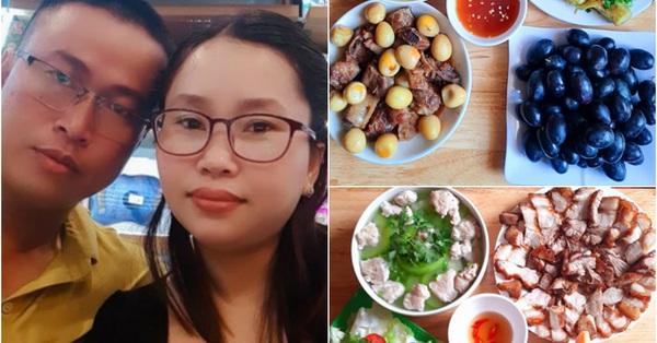 Hoa mắt với mâm cơm gia đình chỉ với 70k mà đầy đủ thịt, cá hoa quả của bà nội trợ Lâm Đồng, đổi món liên tục khiến chồng ngày càng