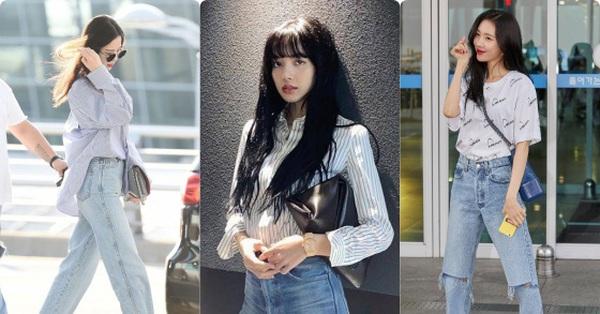 Vẫn là quần jeans nhưng qua tay các idol Kpop lại toát khí chất