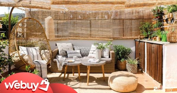 """Biến sân thượng nhạt nhẽo thành góc """"chill"""" siêu yêu với những món đồ dùng, decor này"""