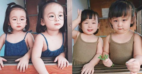 Mê tít cặp sinh đôi Cam và Dứa giống nhau như 2 giọt nước, ra đường ai cũng tấm tắc khen xinh như diễn viên Hàn Quốc