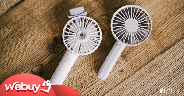 Dùng thử quạt phun sương cầm tay: Giá chỉ 100.000 đồng, liệu có mát hơn quạt mini loại thường không?