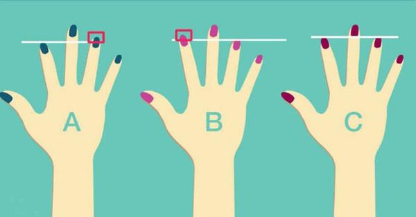 Quan sát xem hai ngón tay của bạn có khoảng cách thế nào, câu trả lời sẽ tiết lộ cách sống của bạn, là người tự tin hay trầm tính