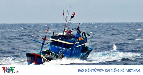 Tàu cá ở Bình Định cùng 2 ngư dân mất liên lạc nhiều ngày trên biển