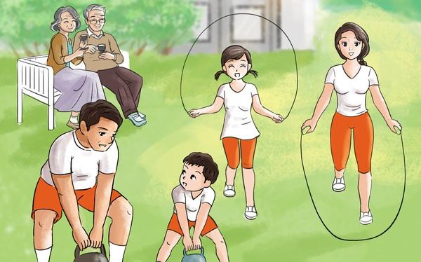 Đi ngủ đúng giờ, tập thể dục rèn luyện sức khỏe, không uống rượu bia... là thông điệp trong các bức tranh cổ động chăm sóc sức khỏe lá gan