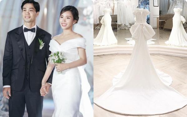 Điểm 10 hoàn mỹ dành dành cho bộ váy cưới của vợ Công Phượng: Thiết kế trễ vai nhẹ nhàng, giá bình dân và cực kỳ tôn dáng cho cô dâu nhỏ nhắn